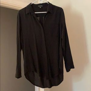 American apparel black button up